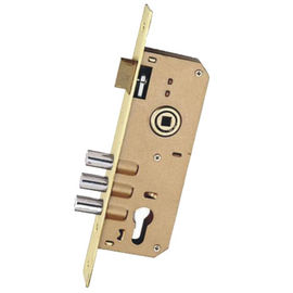 Steel GP Panel Door Lock Body 85 * 45MM With Three Rod And Cylinder Hole