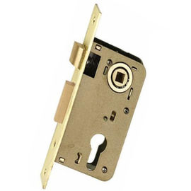 Gold Painting Mortise Lock Body With Cylinder Hole For 35 - 55mm Thickness Door